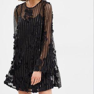 Asilio Twighlight Turns Tunic Mini Dress Black